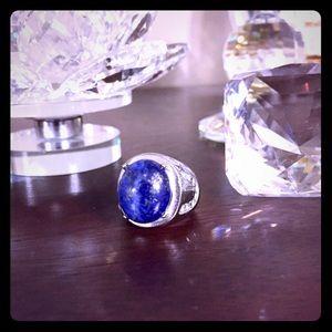 Jewelry - Ring:🔥was $45 Genuine Lapis Lazuli StainlessSteel